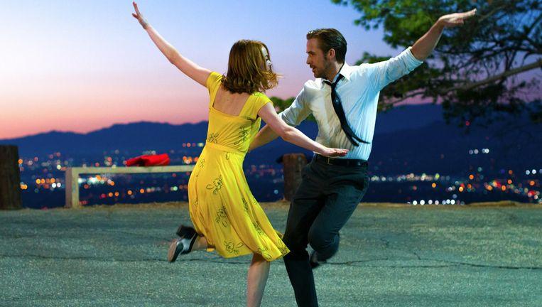 Emma Stone en Ryan Gosling in La La Land. Beeld .