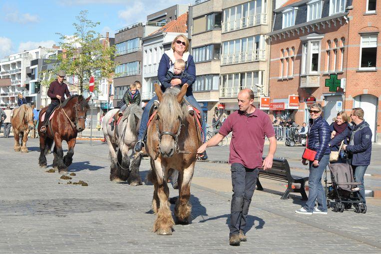 De paardenprijskamp is al negen decennia een vaste waarde op de Markt van Deinze.