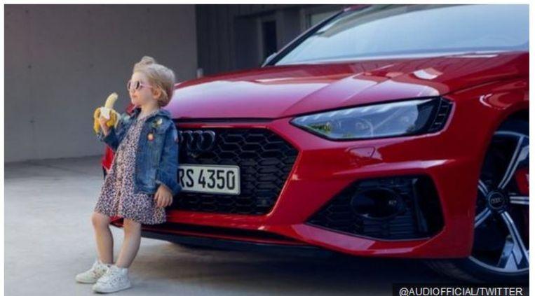 De omstreden reclame van Audi. Beeld Twitter / Audi