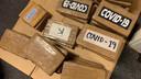 Opvallend: op de onderschepte pakken cocaïne staat onder meer 'Covid-19'.