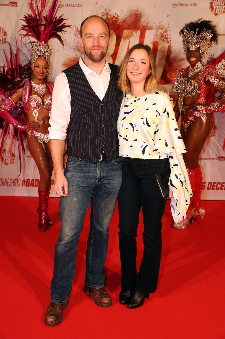 Acteur Mathijs Scheepers en zijn partner Lydia