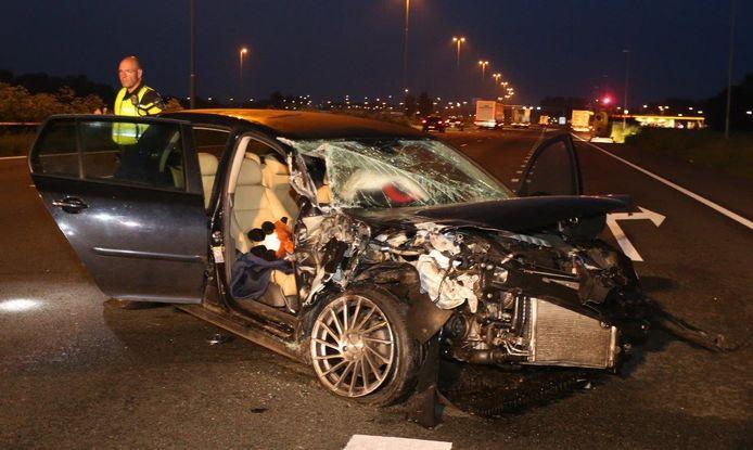 Zwaar ongeluk op de A2 bij Bruchem.