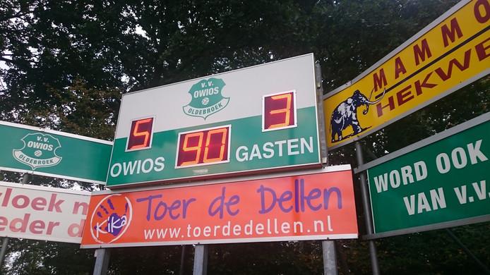 De eindstand in Oldebroek. Foto: Stefan Vlieger