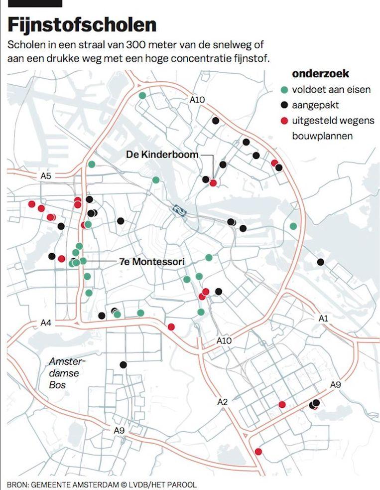 In Amsterdam hebben inmiddels 111 scholen betere ventilatiesystemen gekregen Beeld Laura van der Bijl/Het Parool
