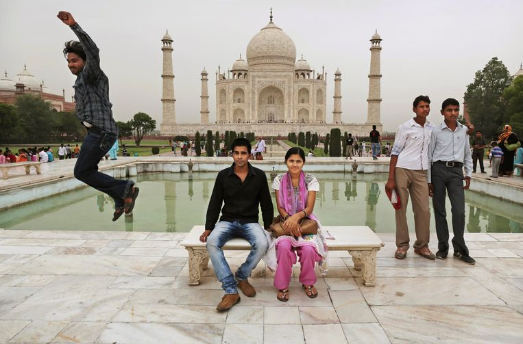 Ook de wereldberoemde Taj Mahal is een mausoleum, gebouwd namens een soennitische Moghulvorst. Beeld AP