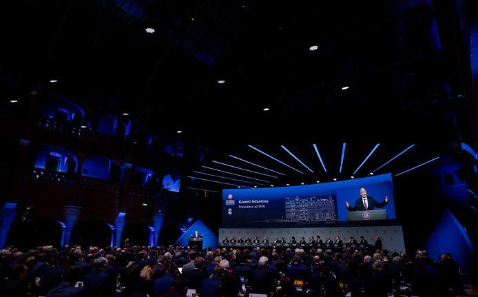 Een congres in de Beurs van Berlage.
