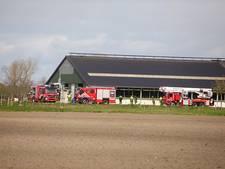 Gierkelder van koeienstal in brand in Hulten