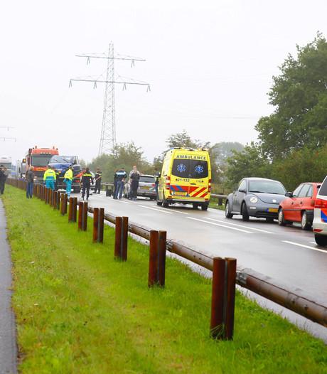 Ongeval na verlenen eerste hulp aan gevallen fietsster