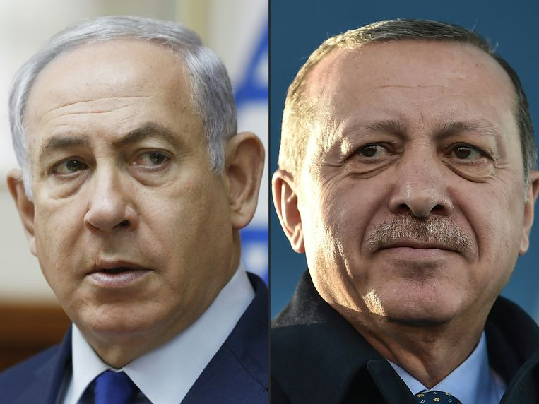 Benjamin Netanyahu en Recep Tayyip Erdogan.
