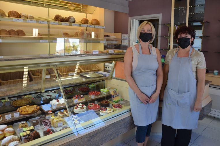 Darlien en Ann Meert in hun bakkerij Meert in Lebeke-Denderhoutem.