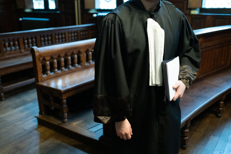 Een advocaat in de correctionele zittingszaal van de rechtbank van Mechelen.