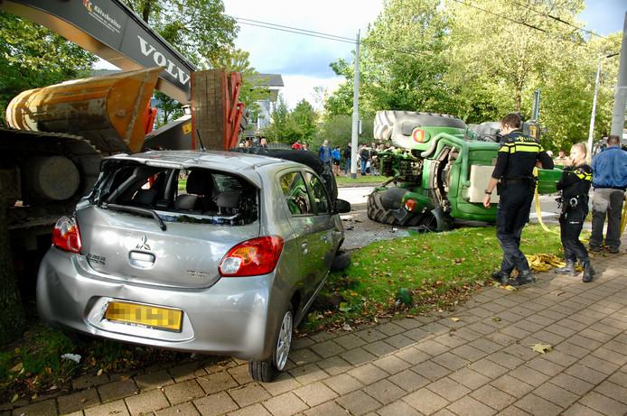Ravage na het ongeval in Arnhem.
