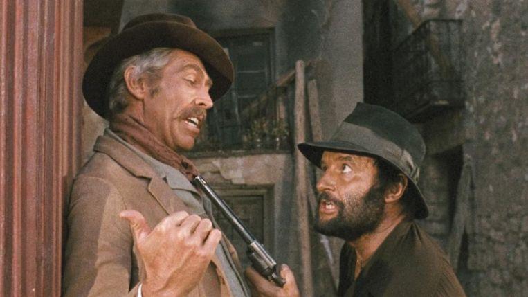 James Coburn (links) en Rod Steiger in Giù la testa. Beeld