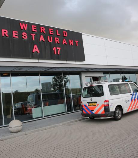 Dieven stelen kassa van Wereldrestaurant langs de A17