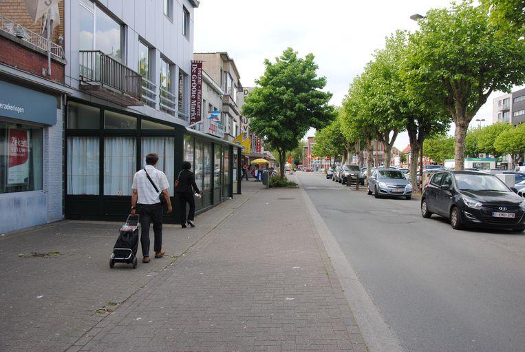 De Grote Markt in Zelzate.