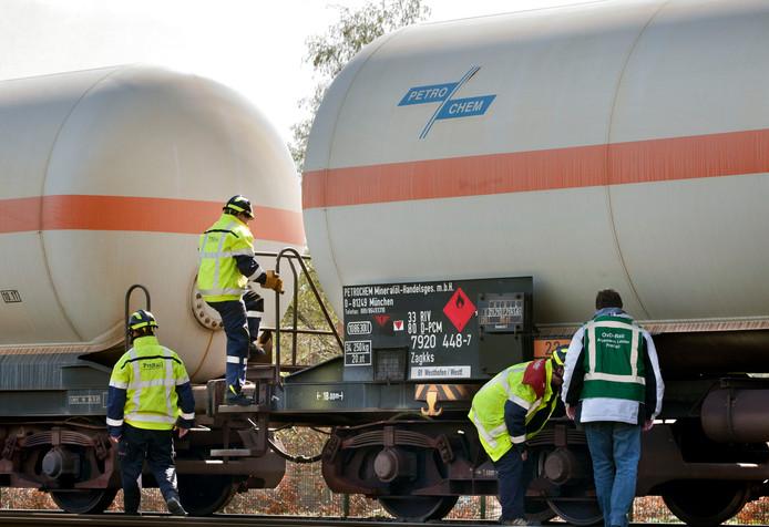 Trein met gevaarlijke stoffen strandt in Deurne met vastgelopen remmen. (archieffoto ter illustratie)