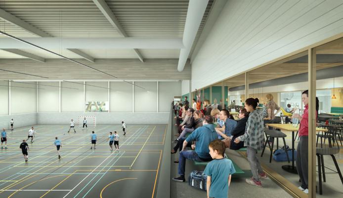 Sfeerimpressie van de nieuwe sporthal bij de Wedert in Valkenswaard.