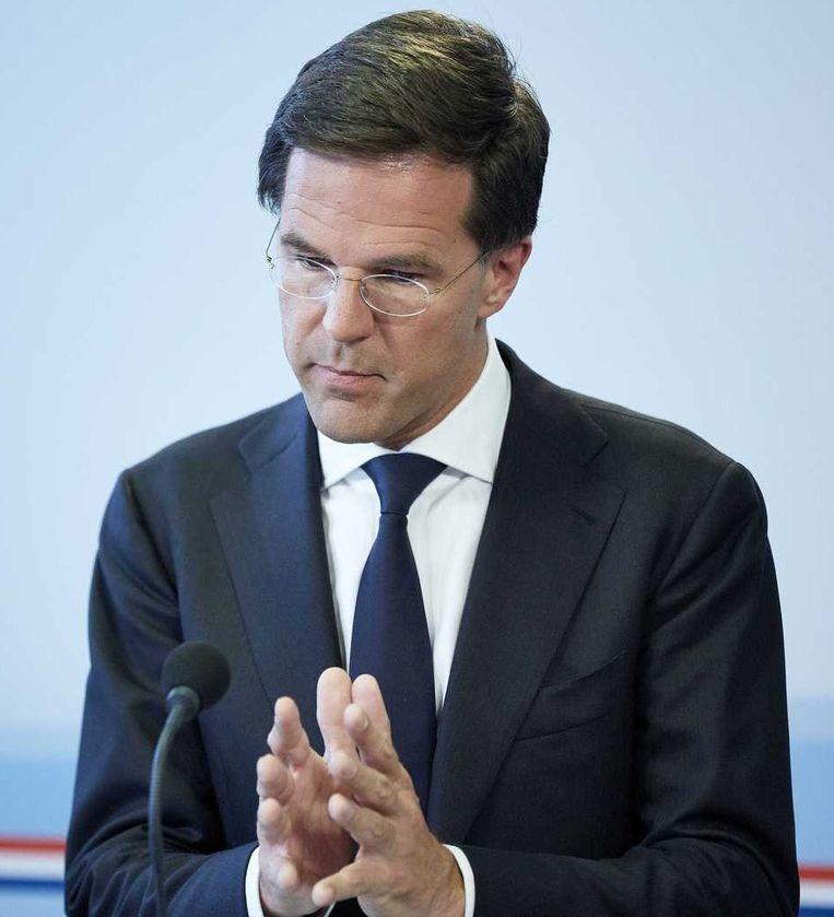 Premier Rutte: 'Volstrekt onacceptabel' Beeld anp