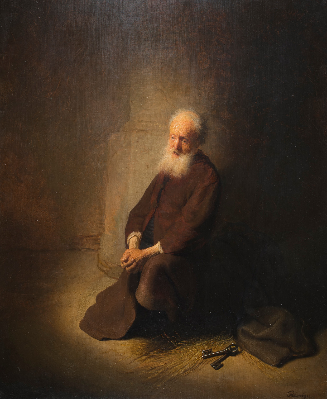 De knielende Petrus van Rembrandt.