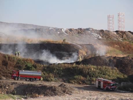 Buitenbrand bij vuilnisbelt aan Frankrijkweg bij Nieuwdorp