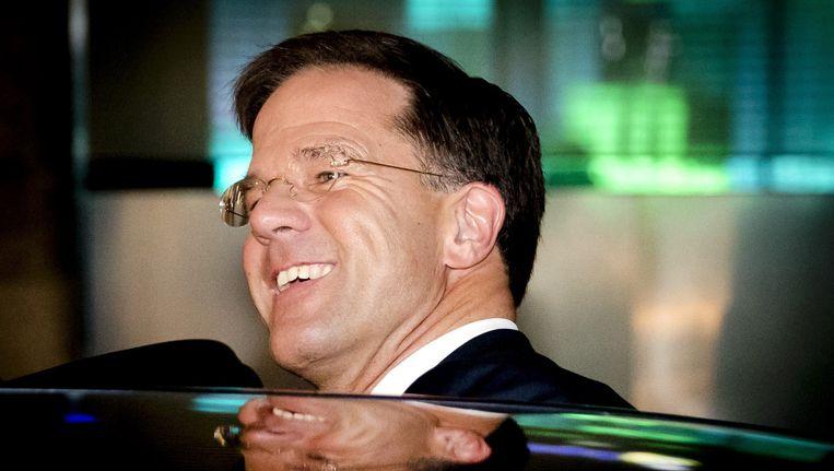 VVD-leider Mark Rutte na zijn verkiezingszege. Beeld epa