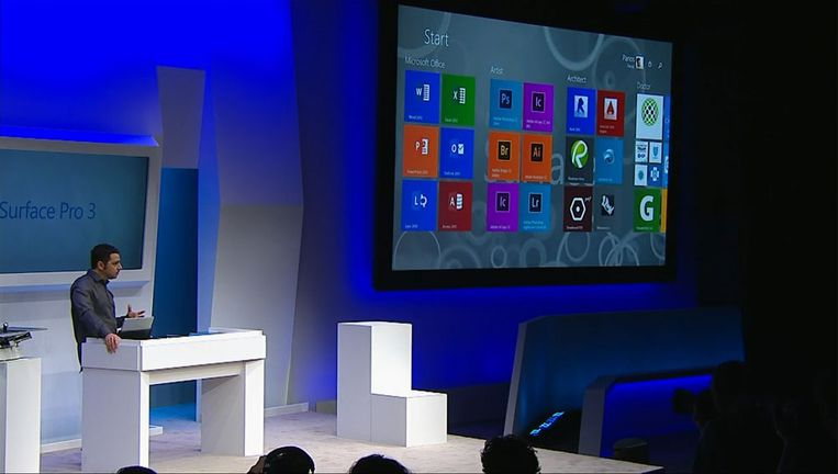 Panos Panay toont de Surface Pro 3 Beeld Microsoft