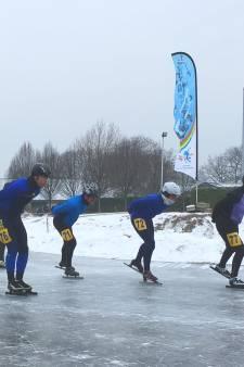Eerste Heumense 'schaatsmarathon' verreden