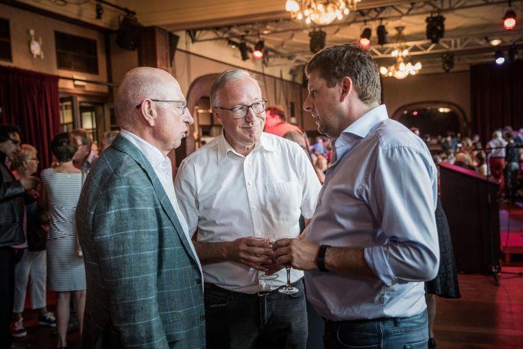 Oud-burgemeester Frank Beke, lijsttrekker Rudy Coddens en partijvoorzitter John Crombez.