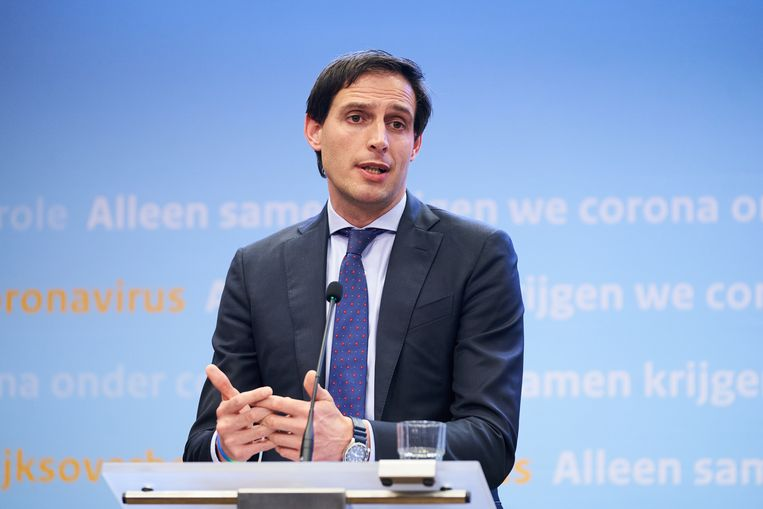 Minister Wopke Hoekstra van Financiën (CDA) verwacht dit jaar 92 miljard euro tekort te hebben en gaf KLM tot 4 miljard euro steun. Beeld ANP