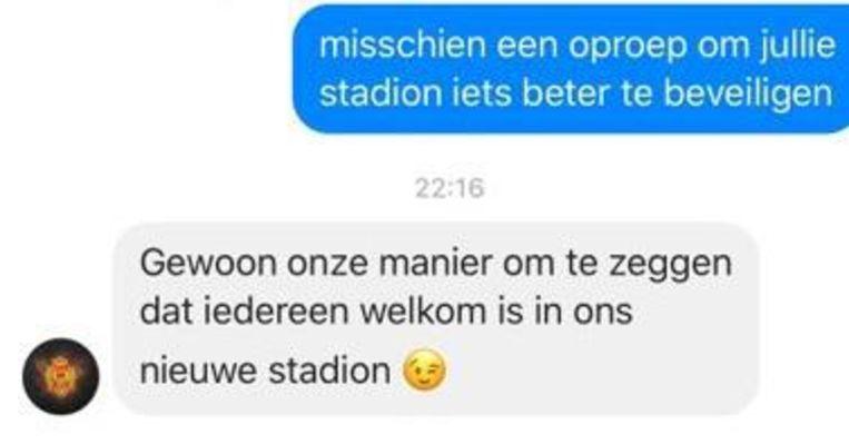 KV Mechelen reageerde sportief op de tweet van de videomakers.