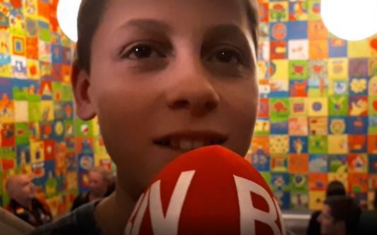 Kiell (14 jaar) schilderde een Tullepetaon