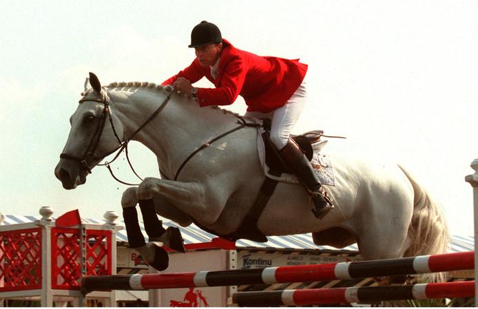 Bert Romp in 1996 in actie tijdens de Grote Prijs van Twente.