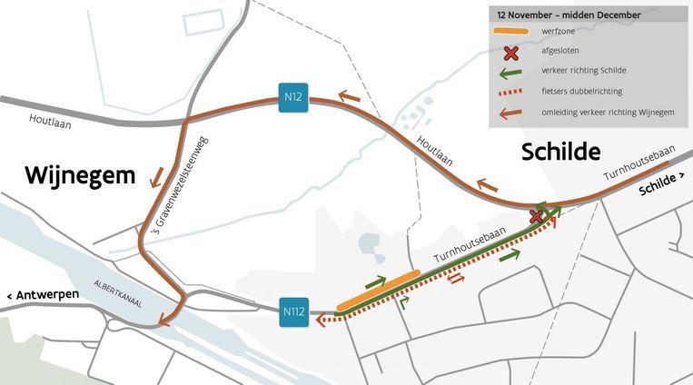 Heraanleg fietspad en voetpad Turnhoutsebaan Wijnegem