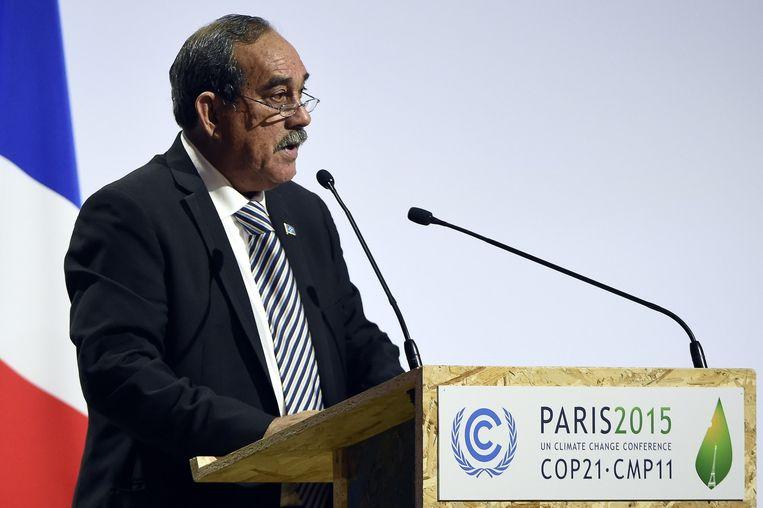 President van Micronesië Peter Christian. Beeld afp