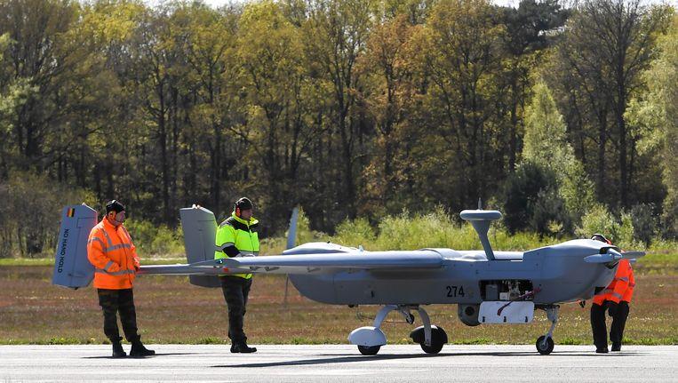 Een drone van het type B-Hunter van het Belgisch leger.
