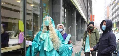 """Action symbolique à Liège en faveur de la sécurité sociale: """"Sans elle, il serait nettement plus difficile d'affronter la crise"""""""