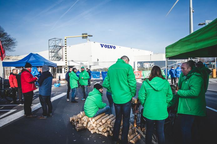 Stakingspiket aan Volvo Trucks Oostakker