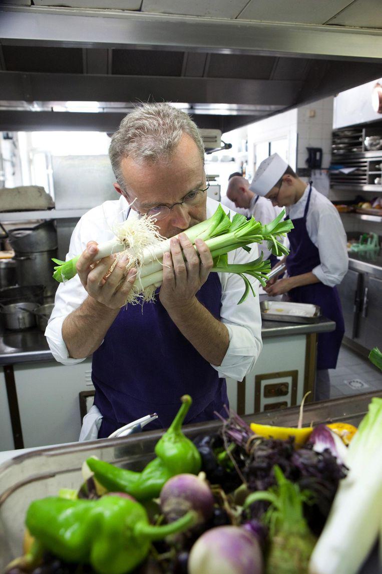 'Hij kweekt alle groenten in zijn eigen tuinen.' Beeld getty