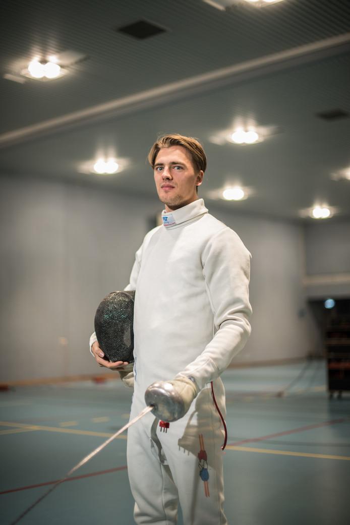 Schermer Tristan Tulen uit Arnhem.