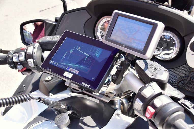 Politie heeft nu ook motorfiets met ANPR-camera.