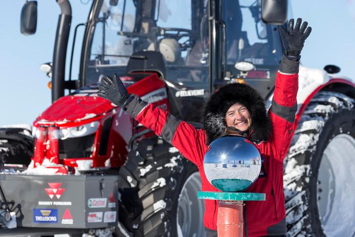 Manon Ossevoort en haar Antarctica Trial heeft de zuidpool bereikt