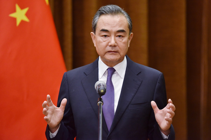 De Chinese minister van Buitenlandse zaken Wang Yi