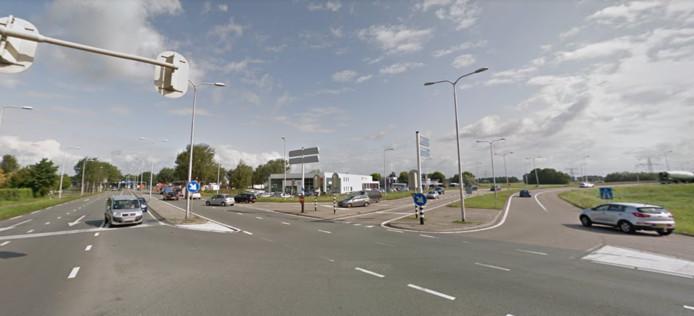De Europabaan bij de A12 in Woerden.
