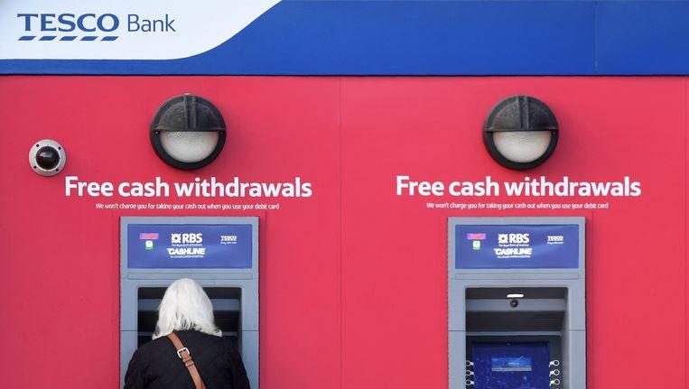 Pinautomaten van Tesco Bank