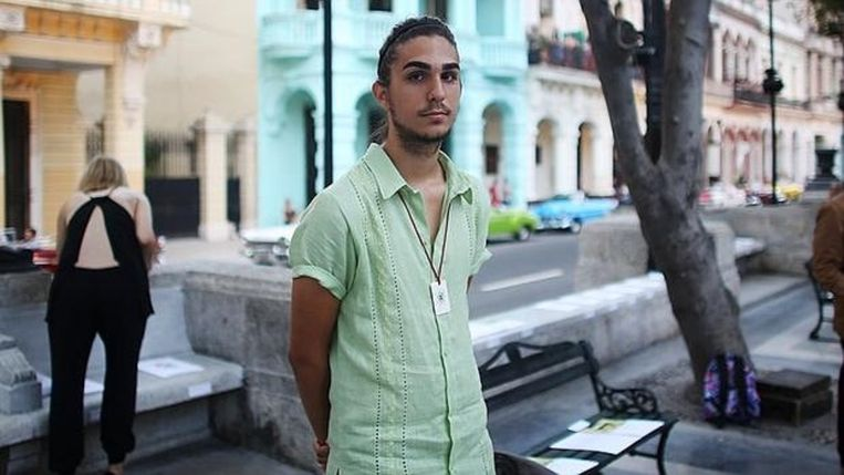 Antonio Castro, de kleinzoon van de Cubaanse oud-leider Fidel Castro. Beeld null
