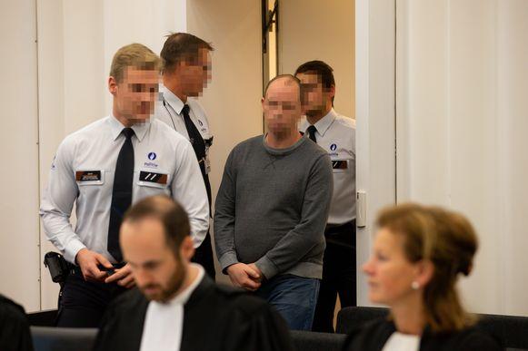 Beschuldigde Thomas C. werd staat terecht in het hof van assisen voor de doodslag op Sandra Stompf.