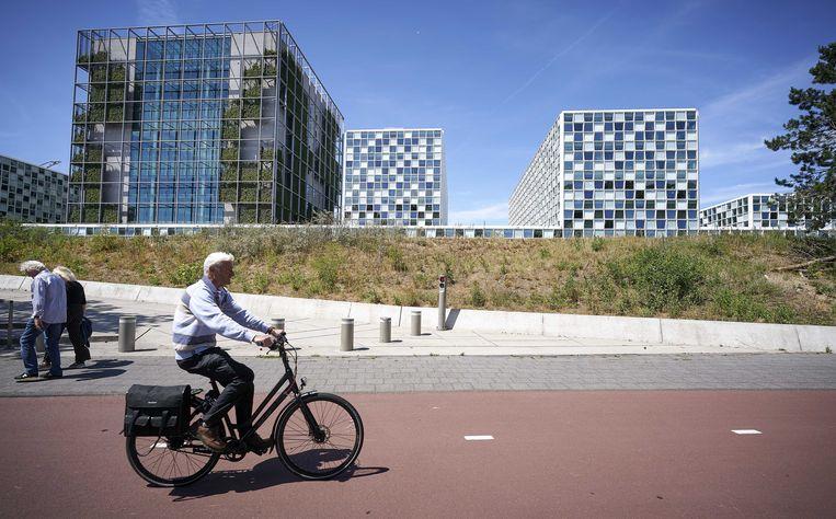 Exterieur van het Internationaal Strafhof (ICC) in Den Haag.
