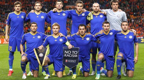 Het Kazachs voetbalelftal.