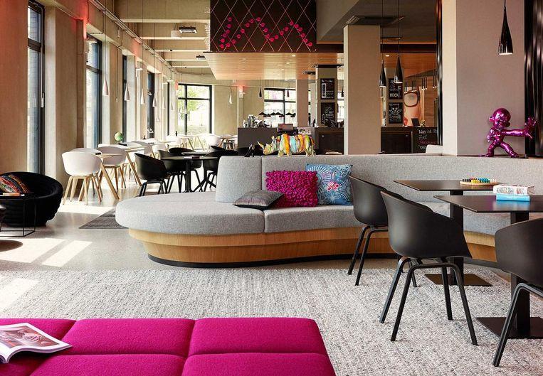 Design in het Moxy-hotel Ostbahnhof in Berlijn.