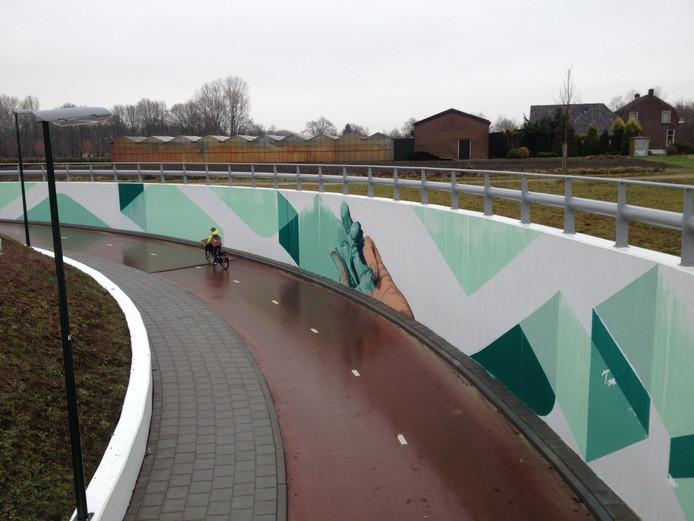 Veel mensen vinden de fietstunnel in Schijndel veel te steil en te bochtig.